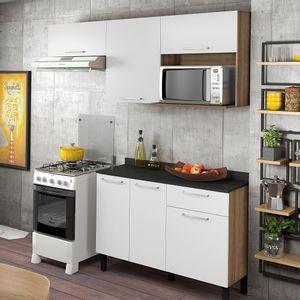 Cozinha 2 Peças Star Castanho/Branco Cetim Itatiaia