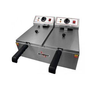 Fritadeira Elétrica Skymsen FED-20-N 10L Inox 2 Cubas 110v