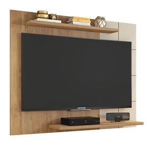 Painel Para TV Até 58 Polegadas 135cm Cross Buriti/Off Brilho Caemmun