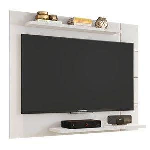 Painel Para TV Até 58 Polegadas 136cm Cross Branco Brilho Caemmun