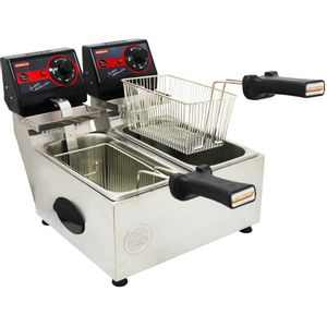 Fritadeira Elétrica Pro 2 Cubas 3l Frita Fácil Cotherm 220v