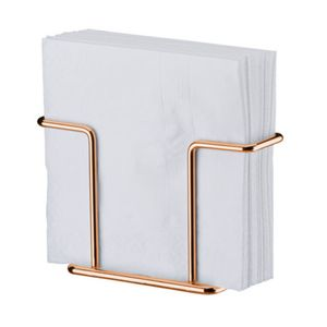 Porta Guardanapos Pequeno Aço Rosé Gold 1155RG Future