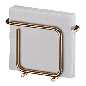 Porta Guardanapos Pequeno Aço Rosé Gold 1192RG Future