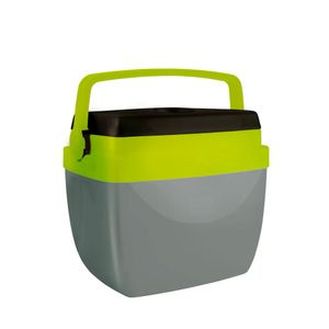 Caixa Térmica Alça Polipropileno Cinza e Verde 12 litros Mor
