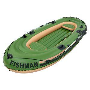 Barco Inflável Para 4 Pessoas Mor Fishman 400 Com Remo