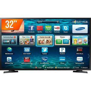 """Smart TV LED 32"""" HD Samsung LH32 2 HDMI 1 USB Wi-Fi Bivolt"""
