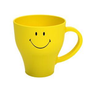 Caneca Cozy Smiley Amarelo 400ml Brinox