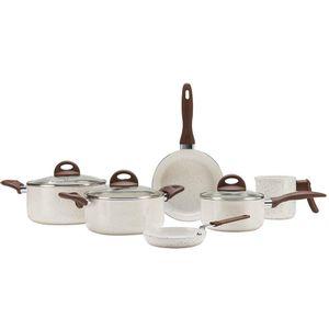 Conjunto De Panelas Ceramic Smart 6 Peças Vanilla Brinox