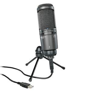Microfone Audio-Technica AT2020USB+ USB Cardióide Condensador