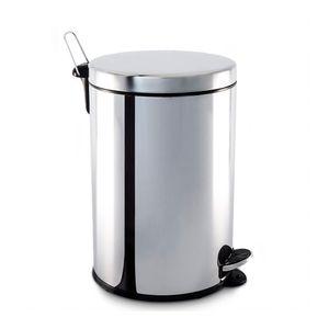 Lixeira Inox Com Pedal e Balde 20 litros Ø 30x46 cm Brinox
