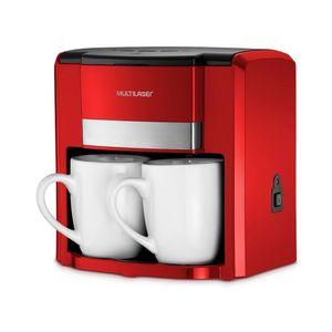 Cafeteira Elétrica 2 Xícaras BE015 Vermelho Multilaser 110v